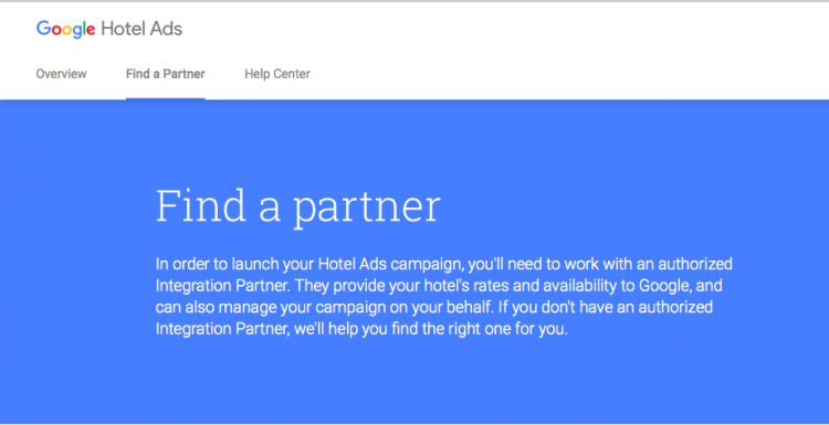 Google Hotel Ads integration partner