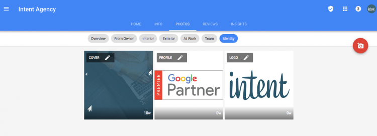 Image identity for google my business