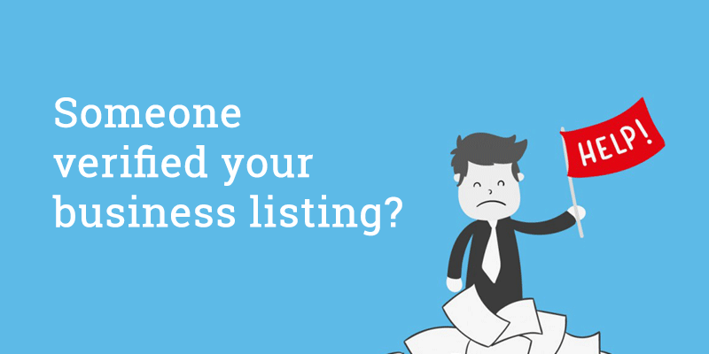 Someone verified your business listing on google my business