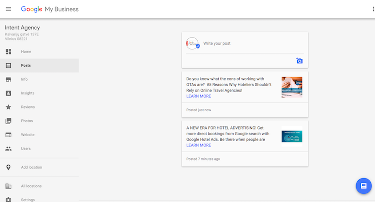 google posts on google my business