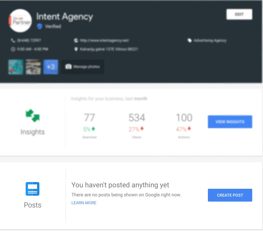 intent Agency Google Posts