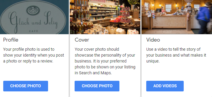 Google My Business Videos Upload
